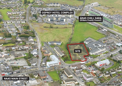 c. 0.85 Ac/  0.34 Ha  Prime Development site, Newbridge Road, Naas, Co. Kildare
