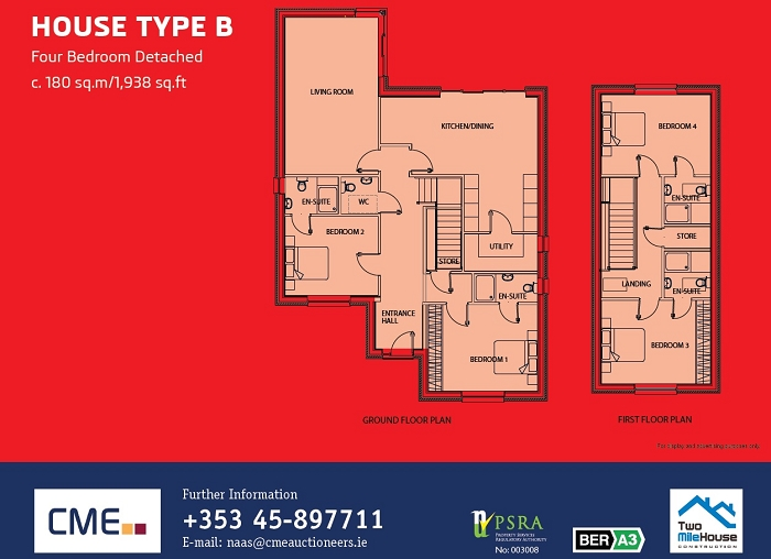 House Type B Floor Plans